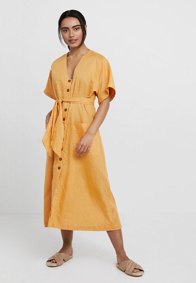 OCEANALLEY BUTTON FRONT DRESS - Akcesoria plażowe - gold