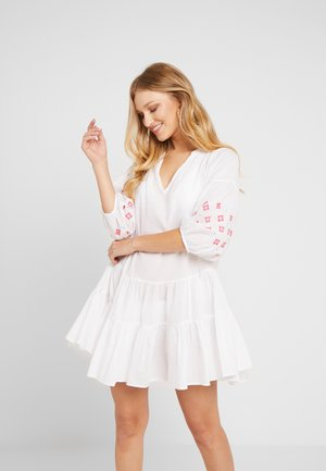 EMBROIDERY SLEEVE TIERED DRESS - Accessoire de plage - white