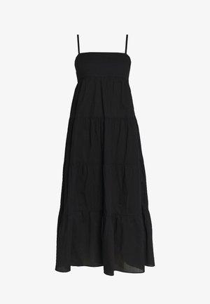 SAFARI SPOT-TIERED DRESS - Denní šaty - black