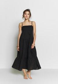 Seafolly - SAFARI SPOT-TIERED DRESS - Kjole - black - 1