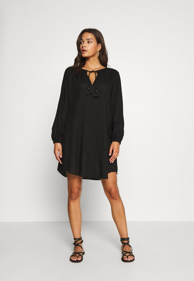 ELDORADOMARCIE PEASANT SLEEVE DRESS - Akcesoria plażowe - black
