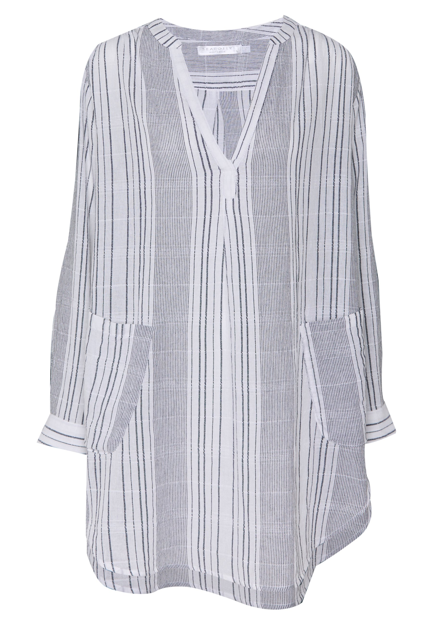 Seafolly Monastripe Cover Up - Strandaccessoar Black/white