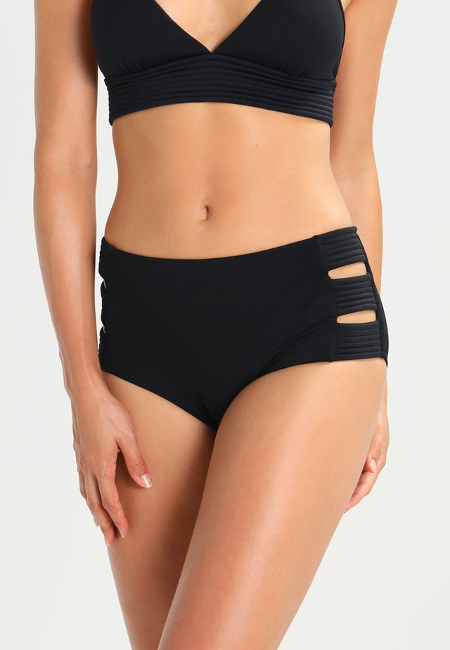 HIGH WAISTED QUILTED PANT - Bikini bottoms - black
