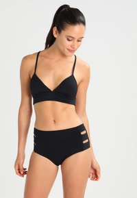 Seafolly - HIGH WAISTED QUILTED PANT - Bikinibroekje - black