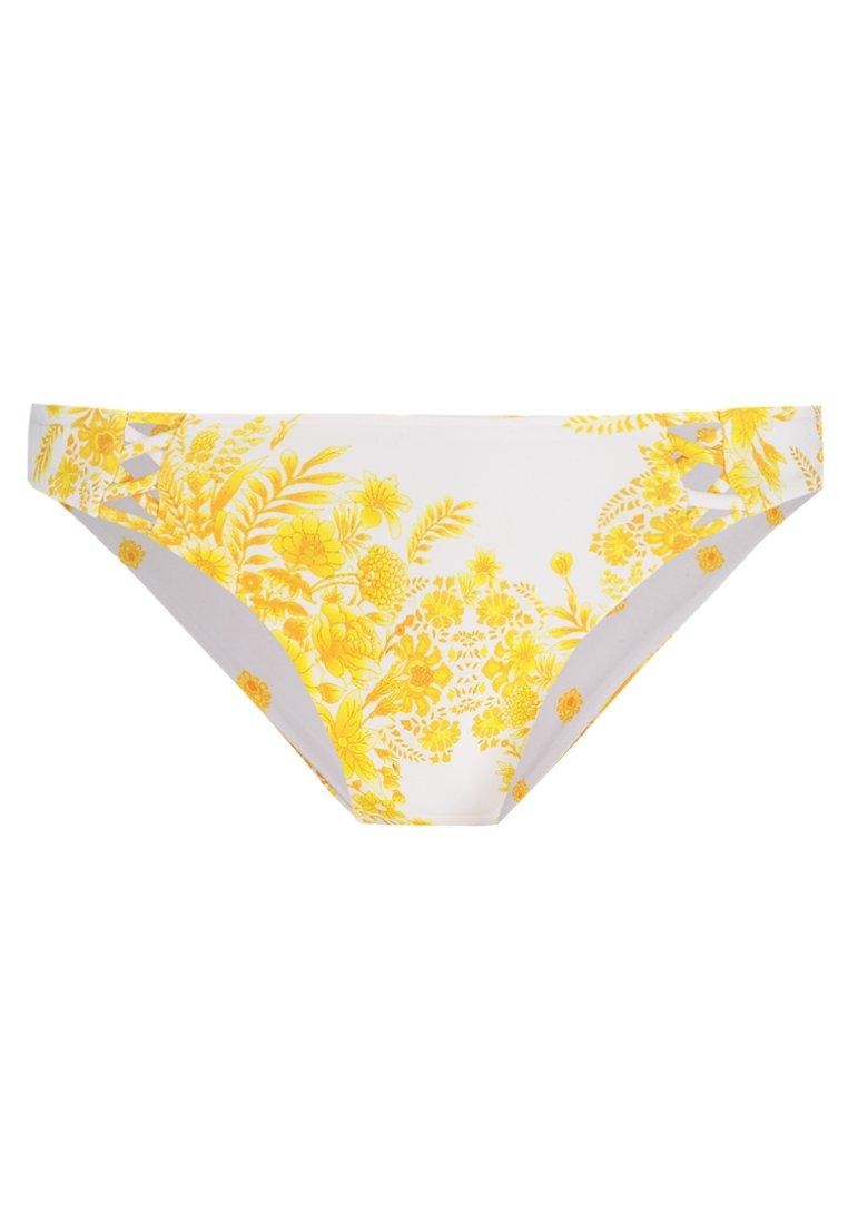 Seafolly Womens Hipster Bikini Bottom Swimsuit Sunflower Buttercup 12