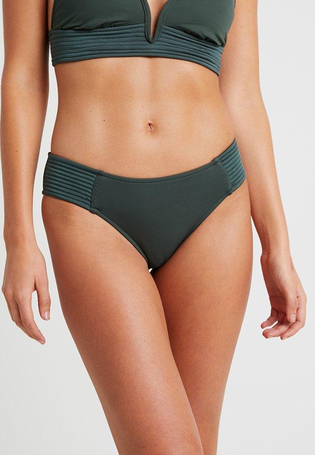 QUILTED RETRO PANT - Braguita de bikini - forest green