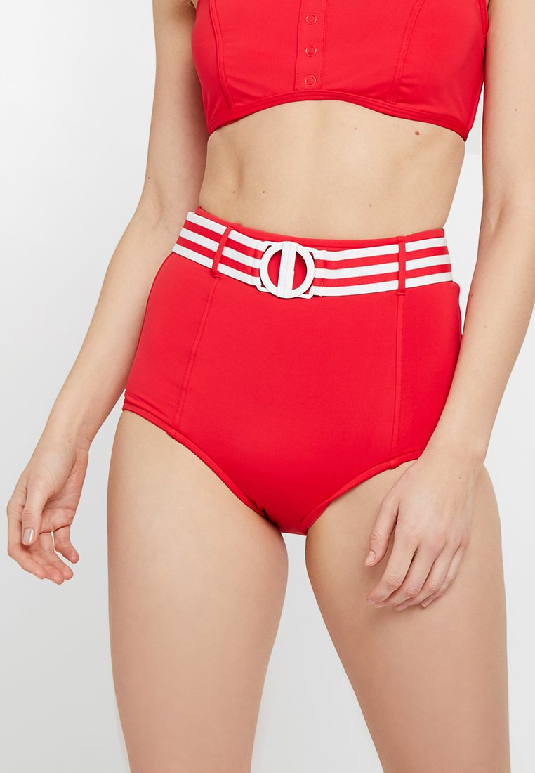 Waisted Bikini Seafolly Belted De High PantBas Chilli UVpGzMqS