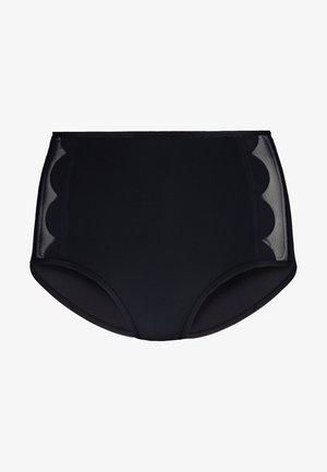 PETAL EDGE HIGH WAIST PANT - Bas de bikini - black