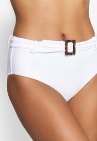 Seafolly - CAPRI SEA WIDE SIDE RETRO - Bikinibroekje - white - 4