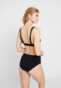 Seafolly - ACTIVEWIDE SIDE RETRO - Braguita de bikini - black - 2
