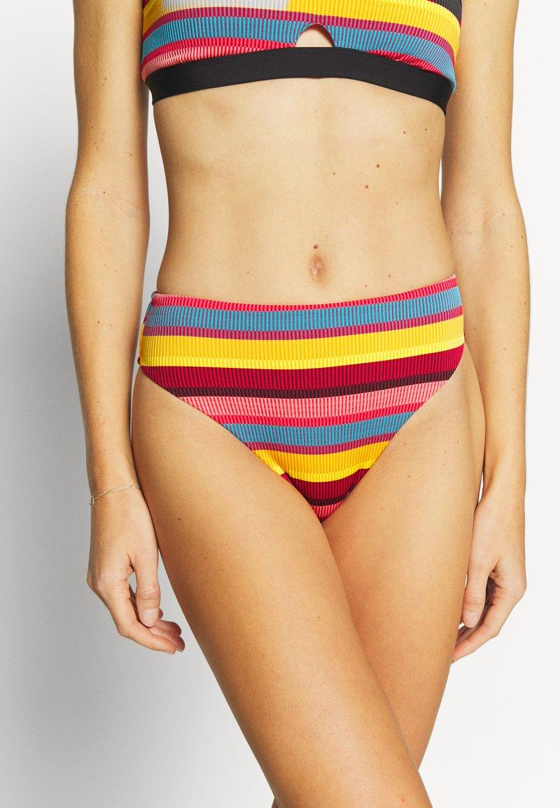 Seafolly - BAJA STRIPE HI RISE - Bikini bottoms - saffron