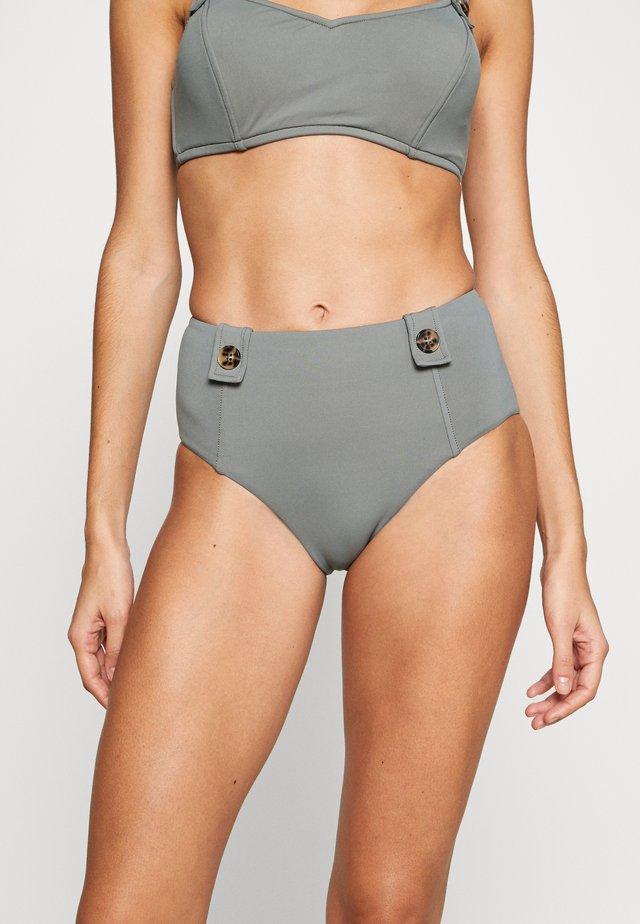 ACTIVEHIGH WAISTED BUTTONS - Braguita de bikini - oliveleaf