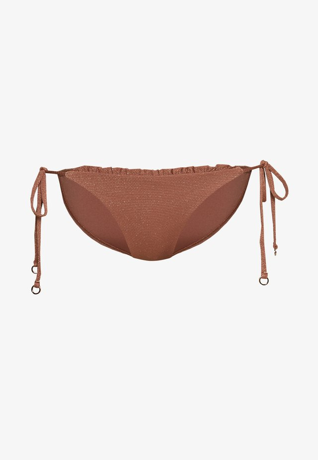 STARDUSTHIPSTER TIE SIDE - Bikini bottoms - bronze
