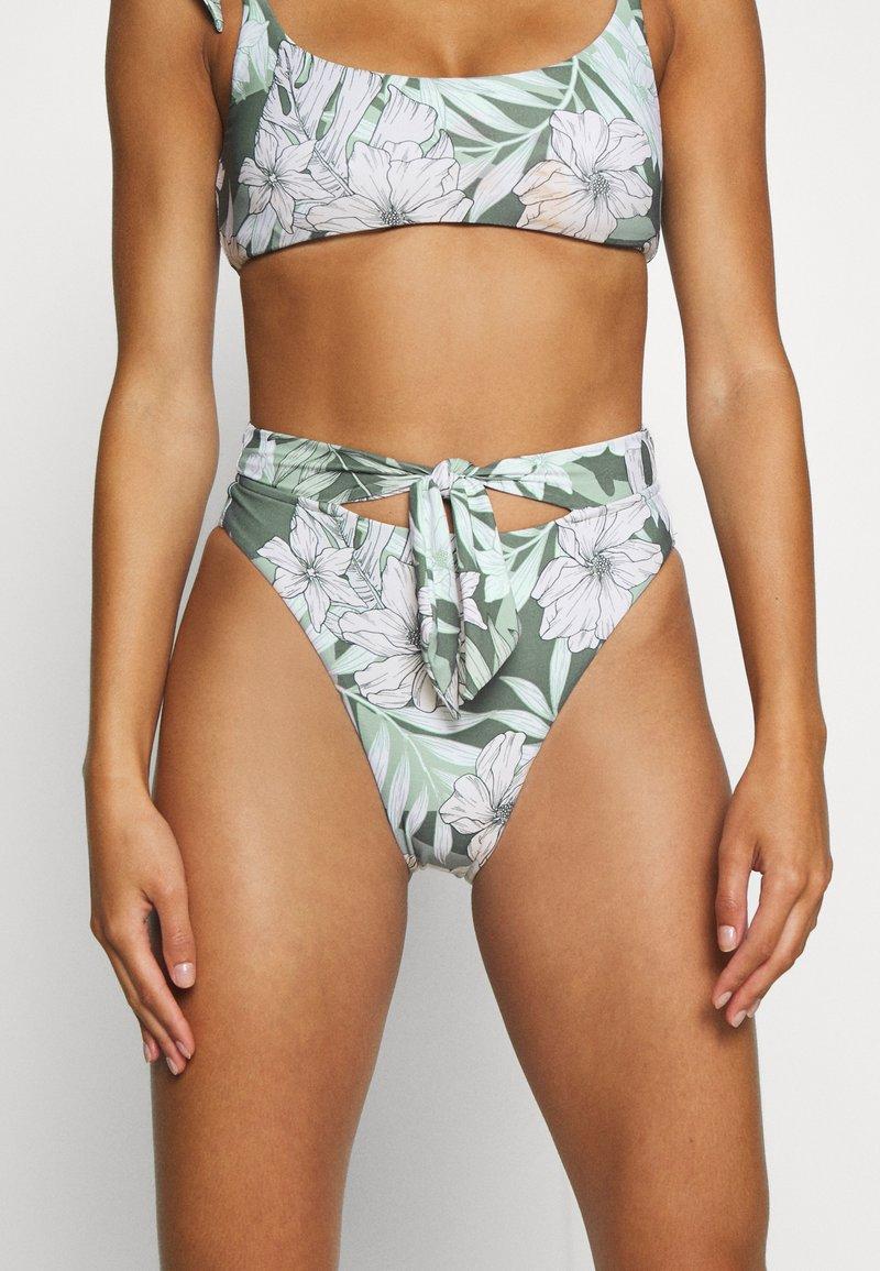Seafolly - COPACABANATIE FRONT HI RISE - Bikini bottoms - vine