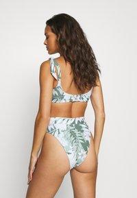 Seafolly - COPACABANATIE FRONT HI RISE - Bikini bottoms - vine - 2