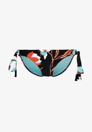 FLOWERMARKETHIPSTER TIE SIDE - Bikinibroekje - black