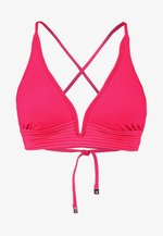 QUILTED LONGLINE - Bikini top - persianpink