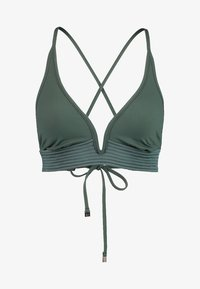 Seafolly - QUILTED LONGLINE - Top de bikini - forest green - 5