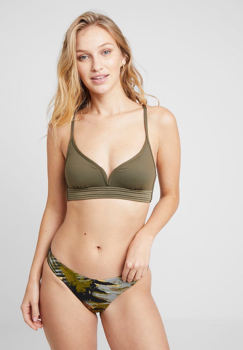 Seafolly - SEAFOLLY  BRALETTE - Bikini top - dark olive