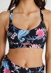 Seafolly - WATER GARDEN CROP - Bikini top - black