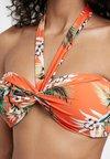 Seafolly - OCEAN ALLEY TWIST BANDEAU - Bikini-Top - tangelo