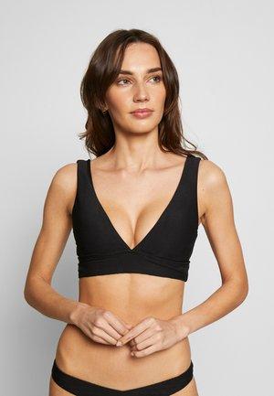 CAPRI SEA NECK CROP - Top de bikini - black