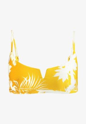 WILD TROPICS V WIRE BRALETTE - Bikini top - saffron