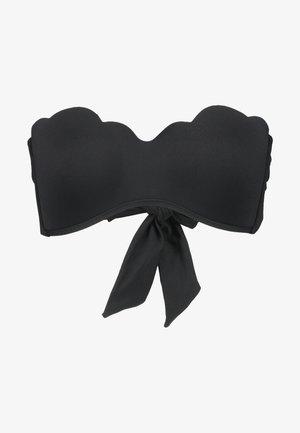 PETAL EDGE BANDEAU BUSTIER - Bikini-Top - black