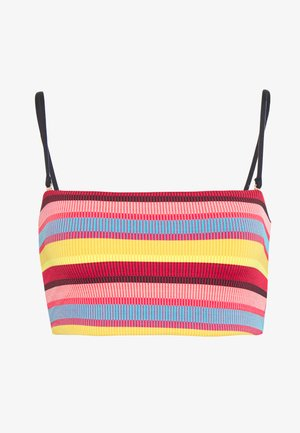BAJA STRIPE LONGLINE TUBE - Bikini top - saffron