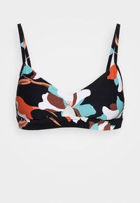 Seafolly - FLOWER MARKET BRALETTE - Bikinitoppe - black - 3