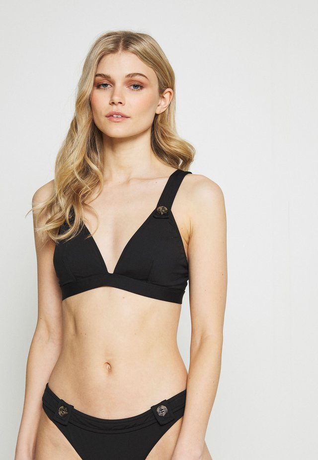 ACTIVE FIXED BUTTONS - Bikini top - black