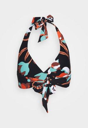 FLOWERMARKETHALTER BRA - Bikini top - black