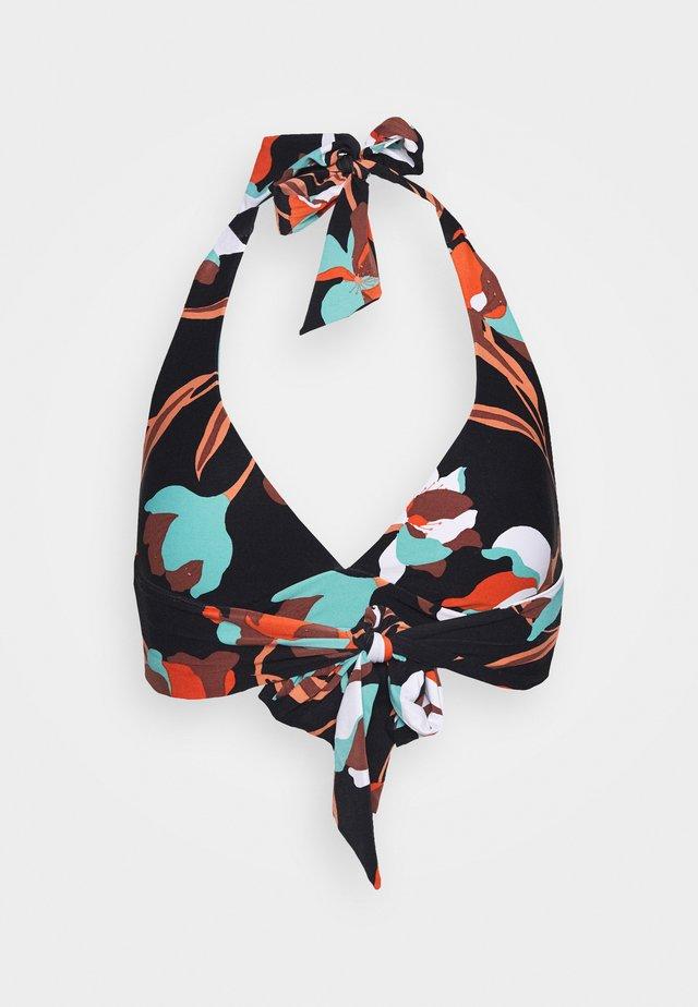 FLOWERMARKETHALTER BRA - Top de bikini - black