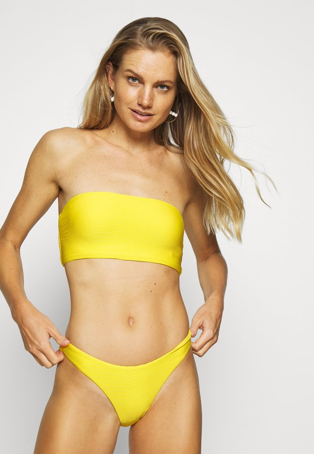 ESSENTIALS TUBE TOP AND HIGH CUT PANT SET - Bikini - sunflower