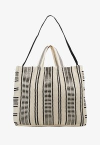 Seafolly - CARRIED AWAY ESSENTIAL STRIPE BEACH TOTE - Jiné - white/black - 5