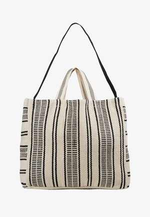 CARRIED AWAY ESSENTIAL STRIPE BEACH TOTE - Annet - white/black