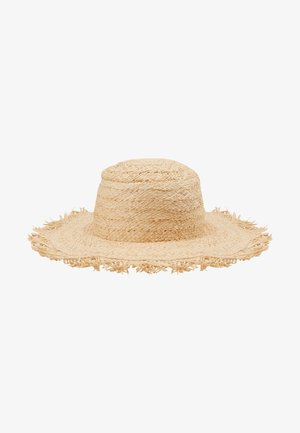 SHADY LADY FRINGED BEACH HAT - Hoed - natural