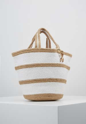 CARRIED AWAY STRIPE BASKET - Strandaccessoire - natural