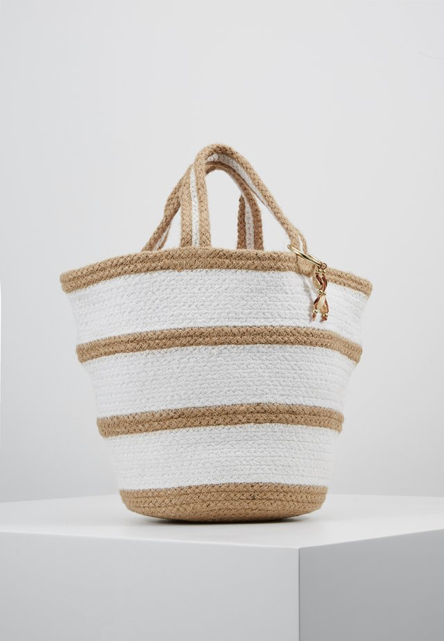 CARRIED AWAY STRIPE BASKET - Beach accessory - natural