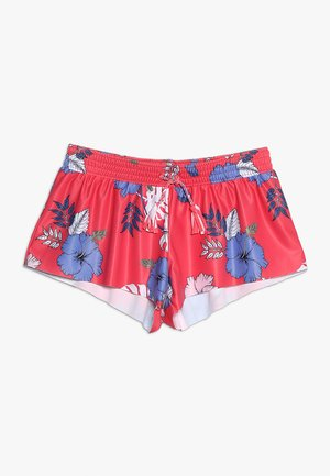 TROPICAL VIBES BOARDIE - Badeshorts - hibiscus red