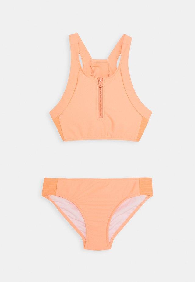 ZIP FRONT TANKINI SET - Bikini - papaya