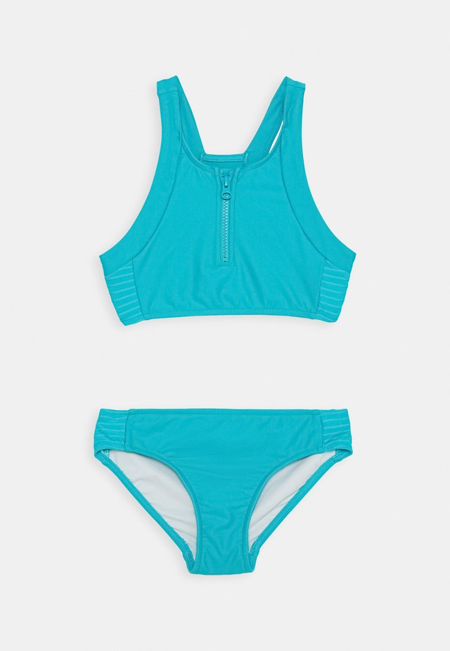 ZIP FRONT TANKINI SET - Bikini - peacock blue
