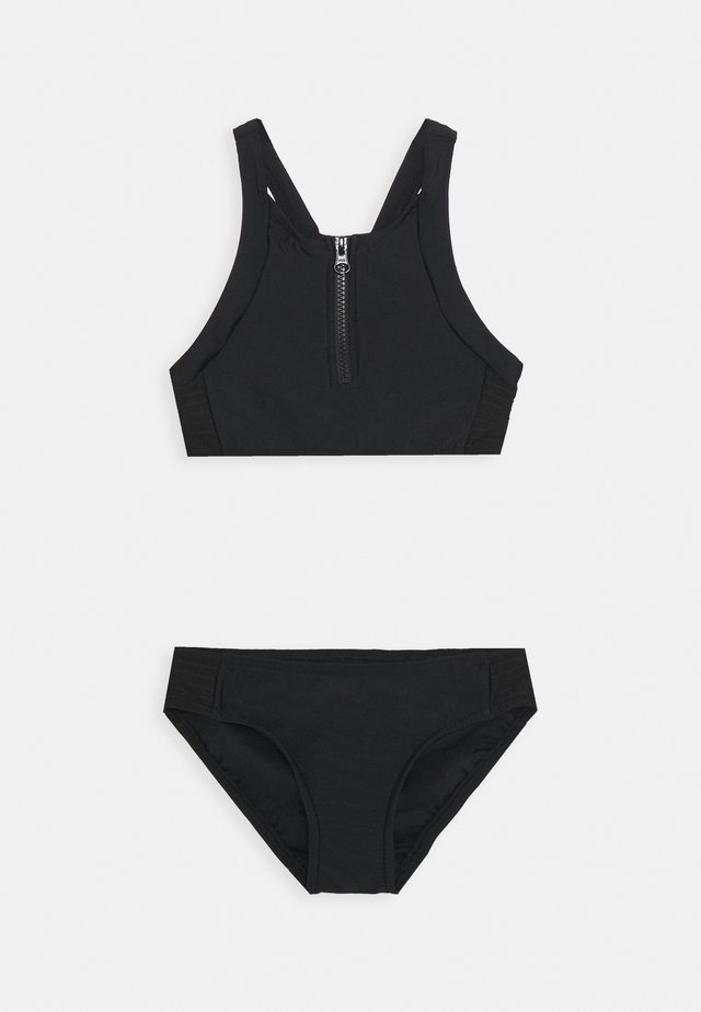 ZIP FRONT TANKINI SET - Bikini - black