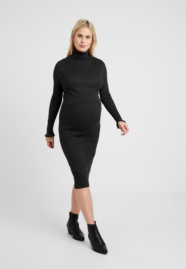 CHARLIZE - Pletené šaty - charcoal