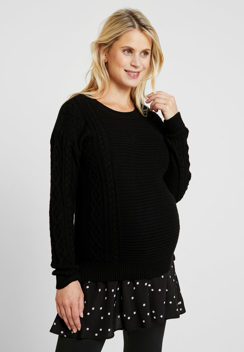Seraphine - TIFFANY 2-IN-1 - Strickpullover - black