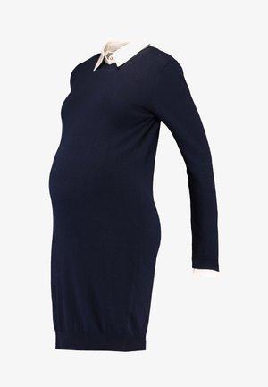 HAZEL - Stickad klänning - navy