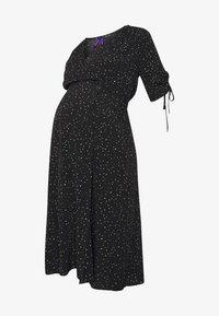 Seraphine - LAUREN KNEE LENGTH WRAP DRESS - Vestido informal - black/white - 3