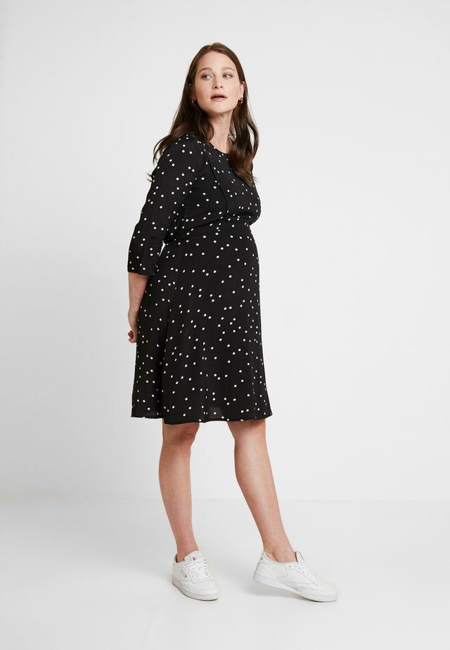 VARA MATERNITY & NURSING FUNCTION DRESS - Sukienka z dżerseju - black