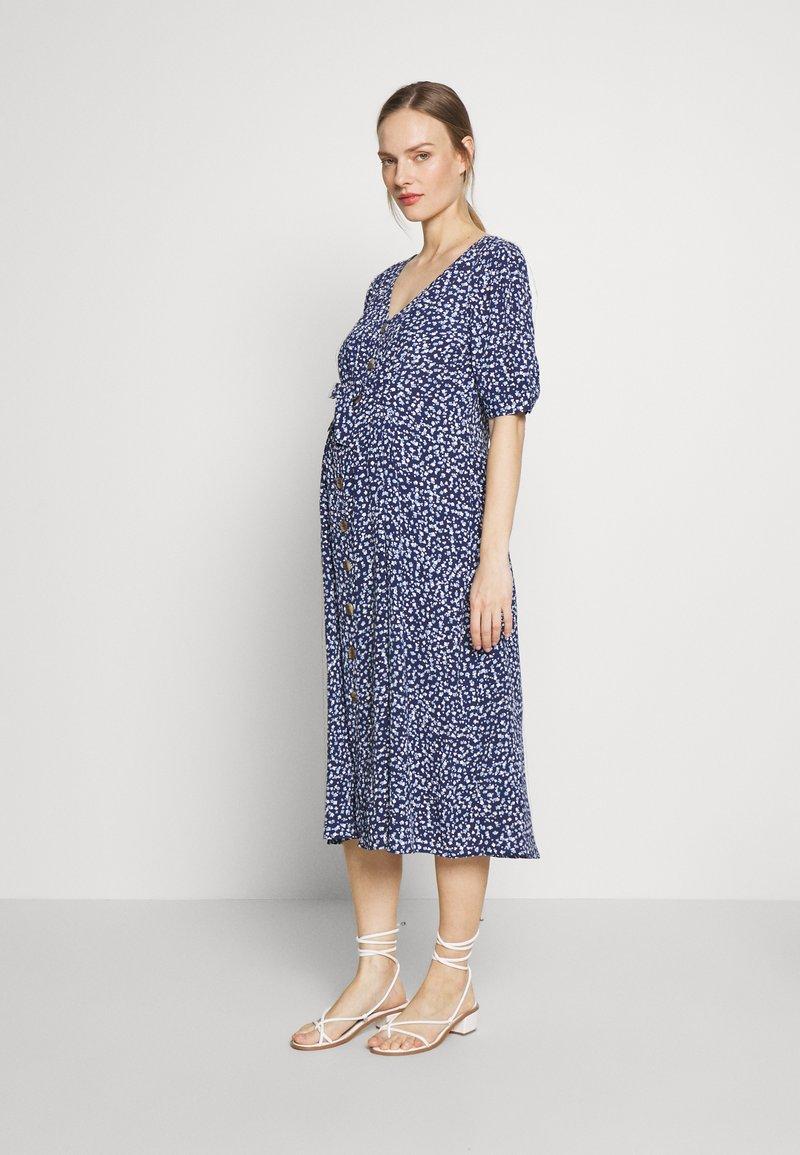 Seraphine - BEA MIDI TUCK TIE DRESS - Jersey dress - navy floral