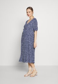 Seraphine - BEA MIDI TUCK TIE DRESS - Jersey dress - navy floral - 1
